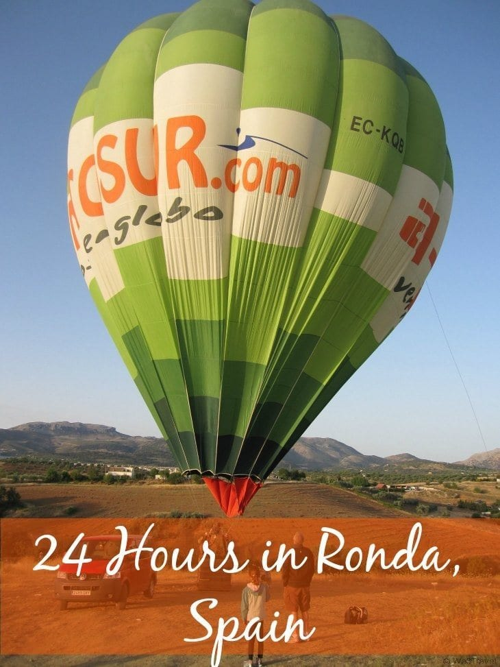 What to do with only 24 Hours in Ronda Spain with kids