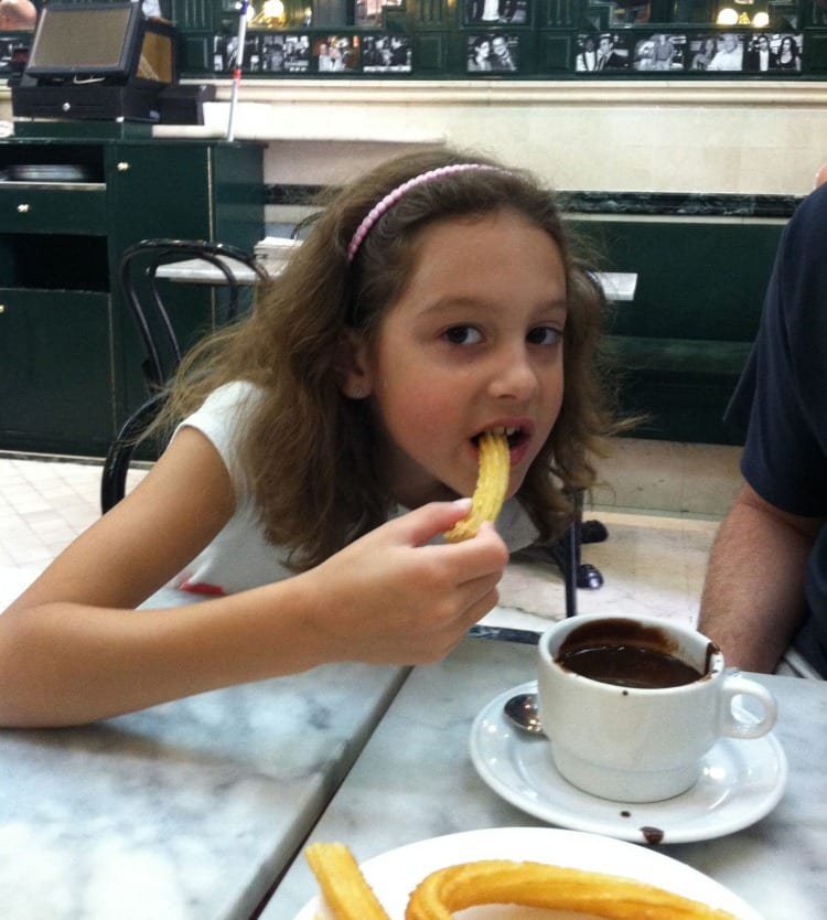 Chocolateria San Gines | What to do in Madrid with Kids | We3Travel.com