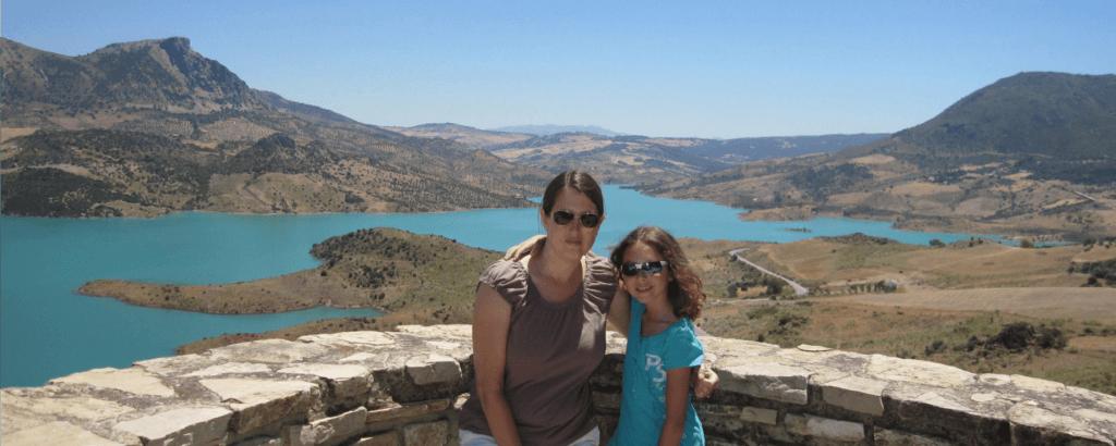 Overlook in Zahara de la Sierra Spain