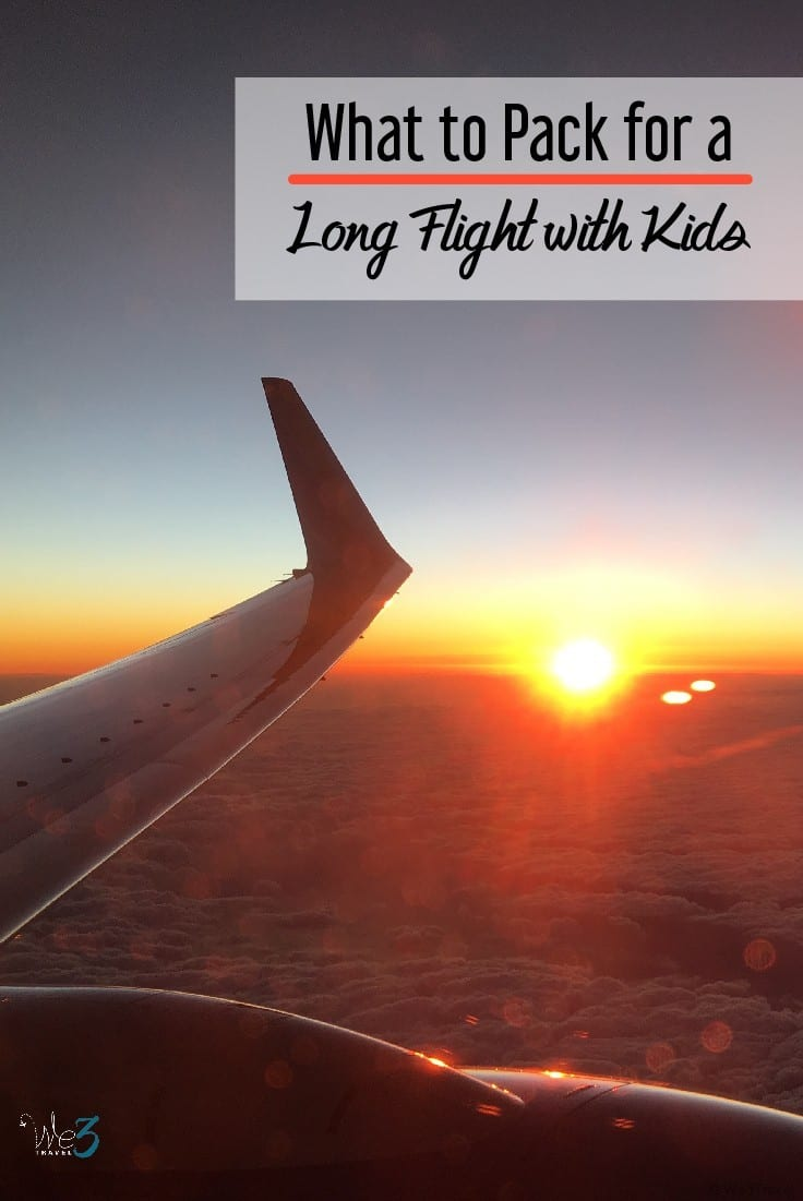 What to pack for a long flight with kids