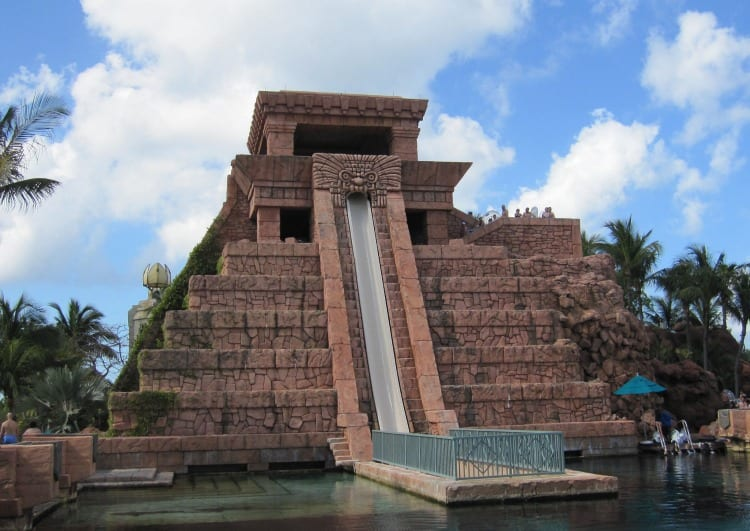 Atlantis pyramid slide