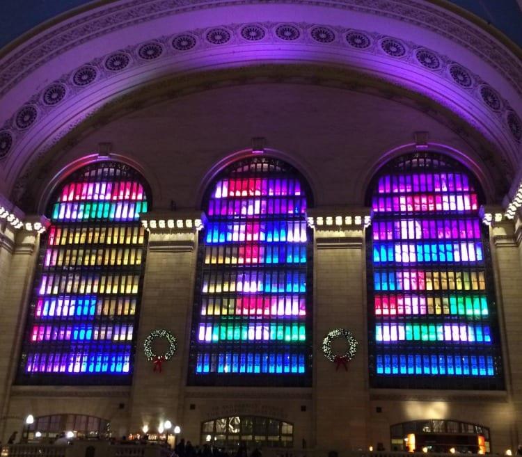Holiday lights at Grand Central Terminal