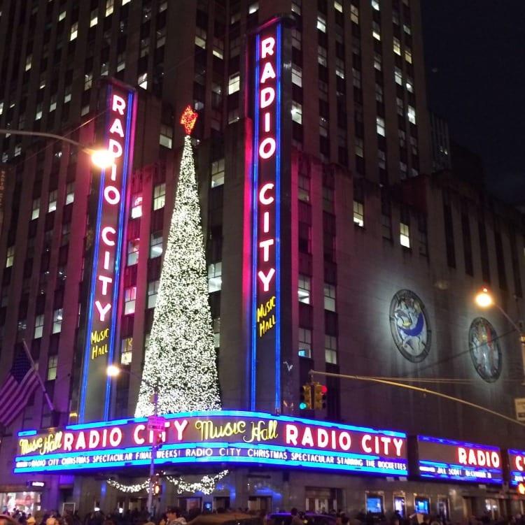 Radio City Music Hall at Christmas Time