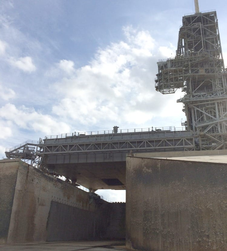 Launch Pad 39-A Flame Trench at Kennedy Space Center via We3Travel.com