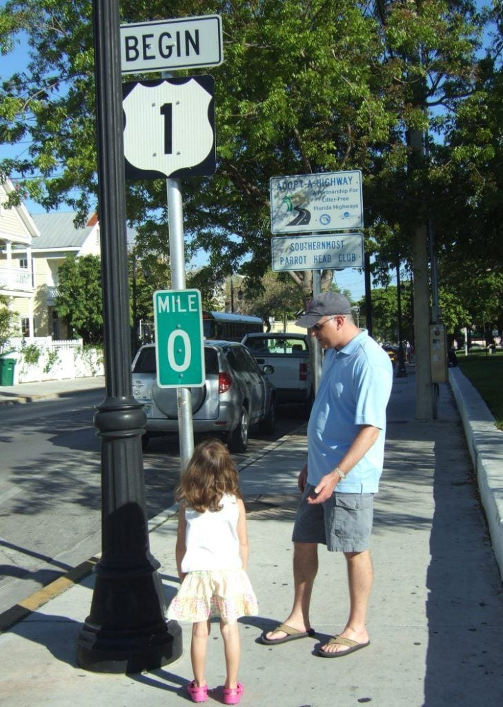 Route 1 Mile Marker 0 in Key West from Family Fun in the Florida Keys