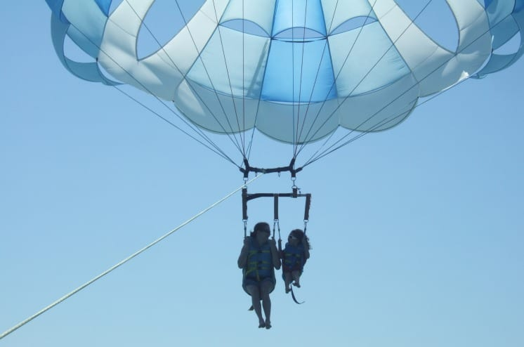 Parasailing at Hawk's Cay in Duck Key, FL via We3Travel.com