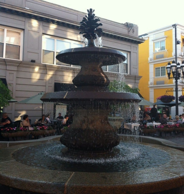 Fountain in Depasquale Square in Providence RI -- Planning a Family Weekend Getaway to Providence from We3Travel.com
