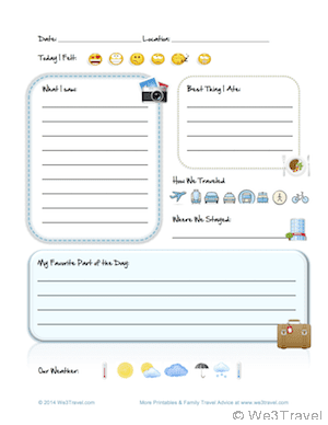 Free Kid Travel Journal Printable - Travel Journal for Kids