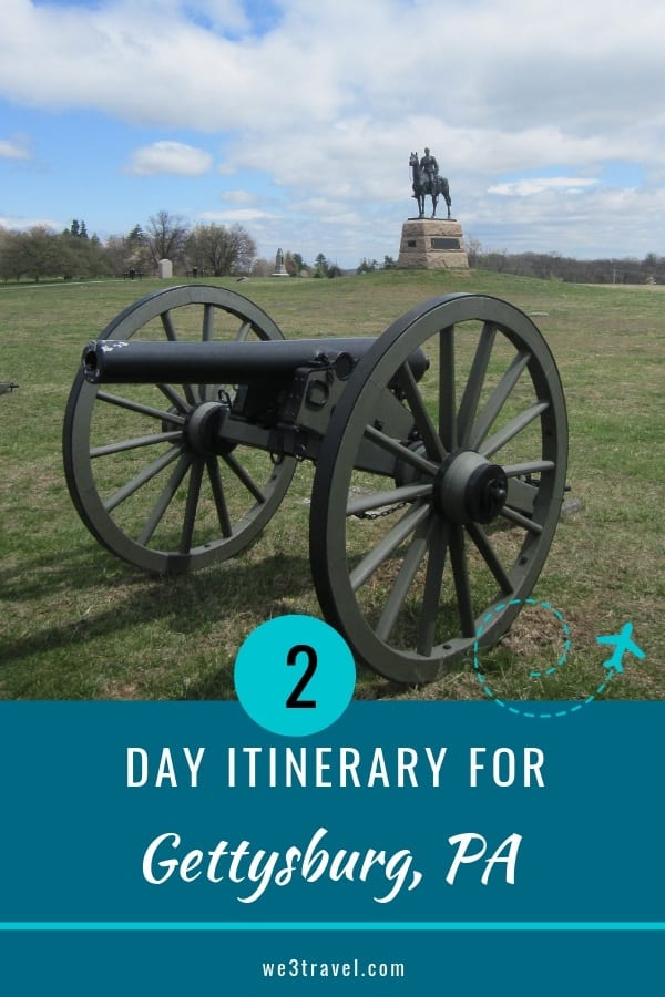 Visit Gettysburg with kids: here is your guide for two days in Gettysburg, PA #gettysburg #civilwar #familytravel #pennsylvania