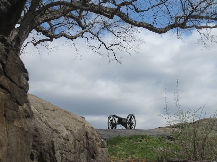 Cannon at Devil's Den at Gettysburg PA