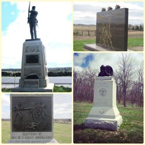 Gettysburg Battlefield Monuments