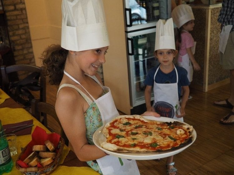 Kids Pizza Making Class in Rome with Eating Italy Pizza School