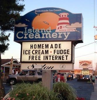 Island Creamery Marsh Mud Ice cream - Must Try Foods in Ocean City, MD