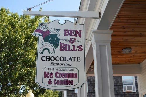 Ben and Bills Chocolate Emporium - What to do on Martha's Vineyard for First-timers