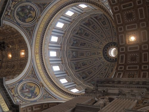 St. Peter's dome from the inside on Overome's Vatican Wonders tour