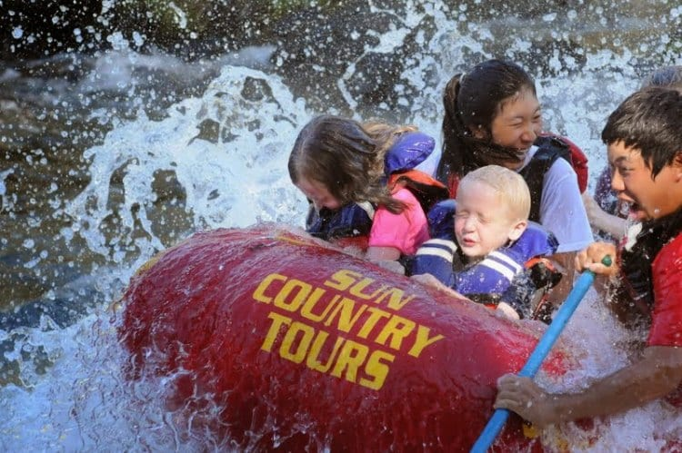White water rafting Deschutes River Sun Country Tours review