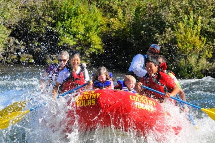 White water rafting Deschutes River in Bend Oregon
