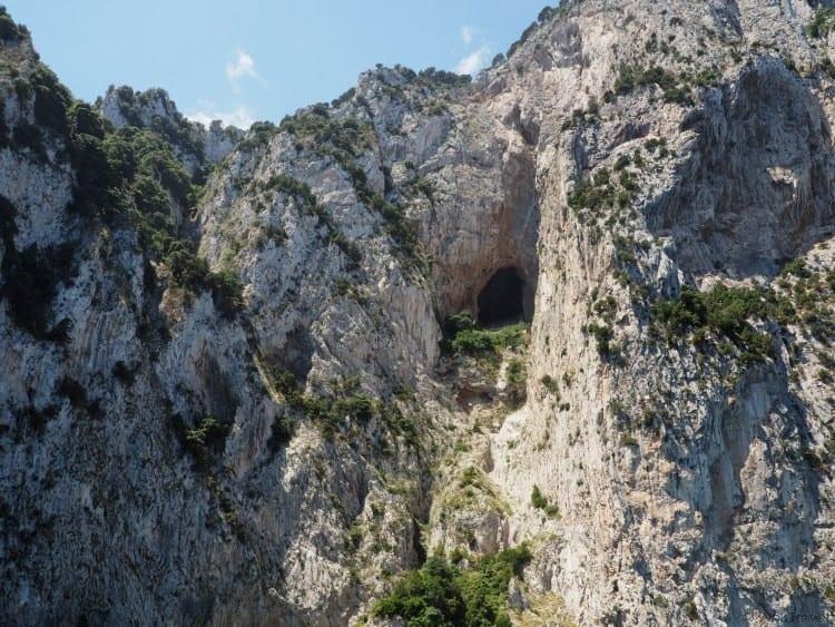Cave cut into the cliffs of Capri