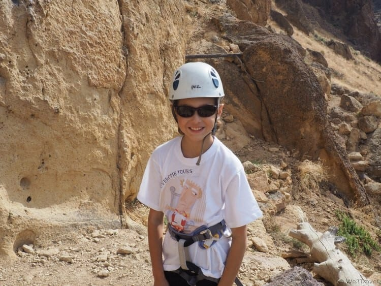 Rock climbing at Smith Rock