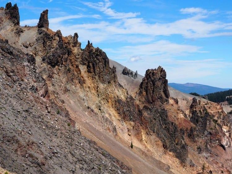 Cliffs around Crater Lake