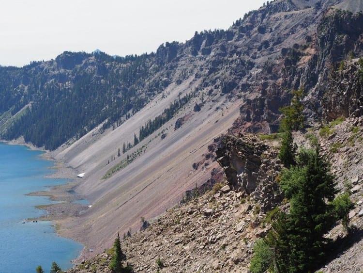 Crater Lake caldera photos
