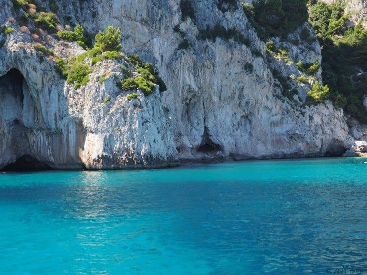 Swimming off the coast of Capri