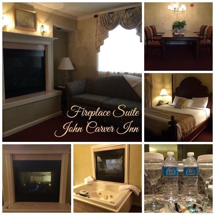 Fireplace suite at the John Carver Inn in Plymouth MA