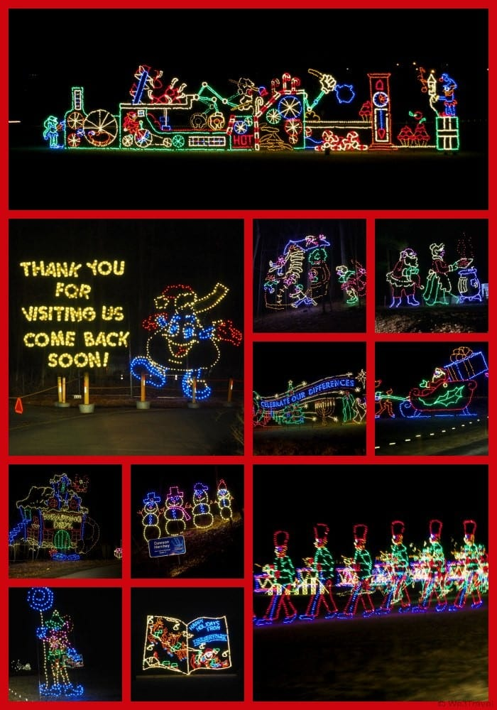 Christmas in Hershey -- the Hershey Sweet lights is a 2 miles drive through holiday light display