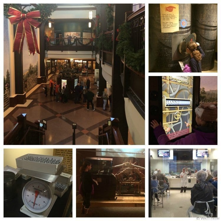 What to do in Hershey PA in winter -- visit the Hershey Story Museum and Chocolate Lab