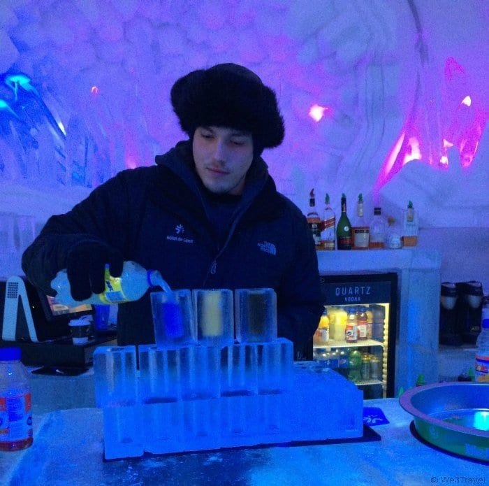 Even if you don't stay at the Ice Hotel, you can still visit and enjoy some cocktails in the Ice Bar | Quebec | Hotel de Glace