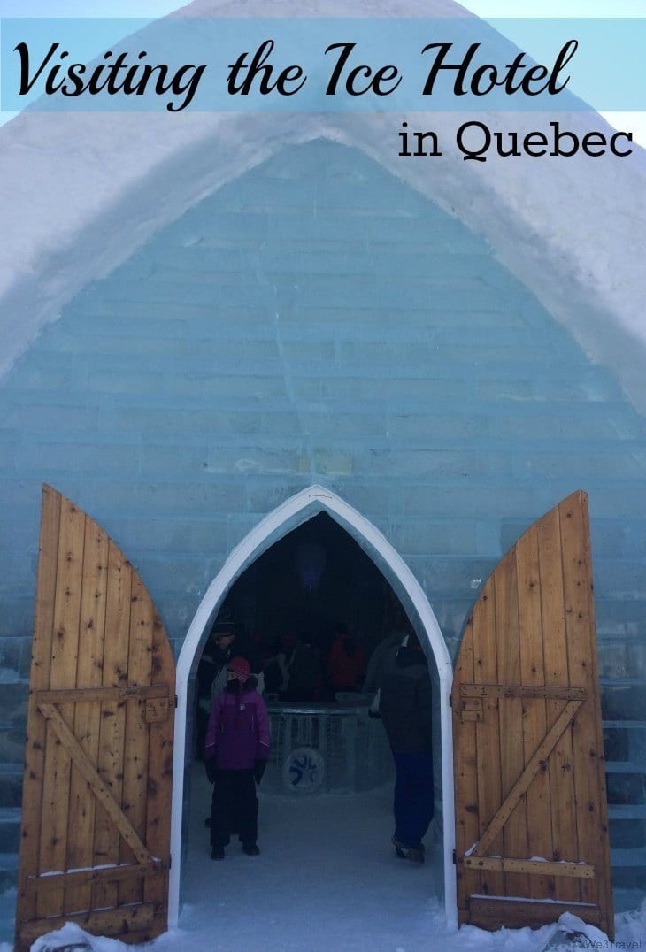 Would you stay overnight at the Hotel de Glace (Ice Hotel) in Quebec? Even if you don't sleep over, you can still tour the hotel or have a drink in the Ice Bar.