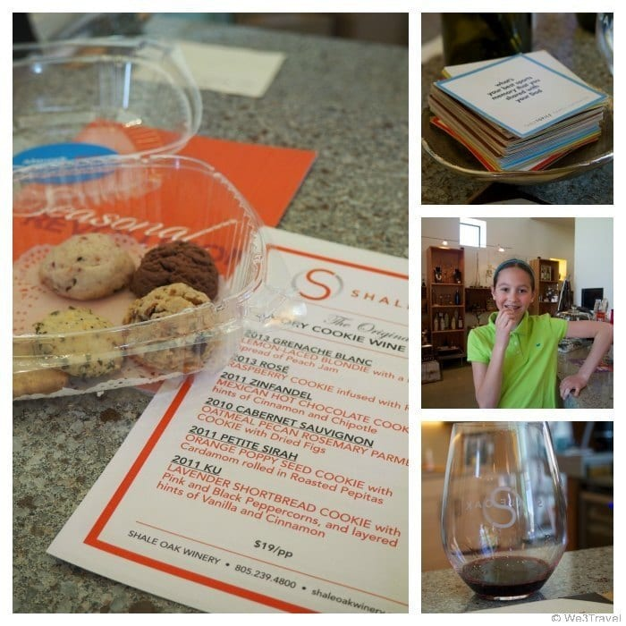 Family -friendly Paso Robles wineries -- Shale Oak offers a wine and cookie pairing, a big hit with the kids!