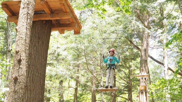 Ramblewild in the Berkshires, MA is so much more than a ropes course or canopy tour -- this treetop adventure course will challenge you and build confidence while enjoying family time in nature.