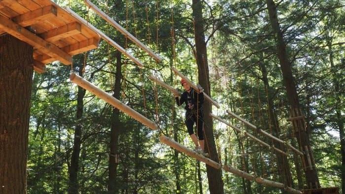 Ramblewild treetop adventure course in the Berkshires in Massachusetts