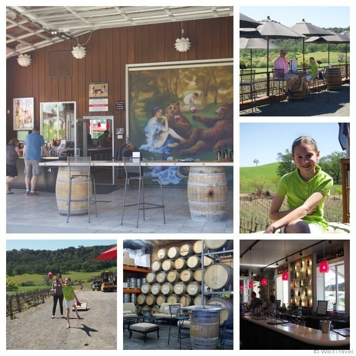 Family-friendly wineries in Paso Robles CA -- Oso Libre Winery was so much fun with farm animals, dogs to greet you, lawn games and a lovely outdoor tasting experience.