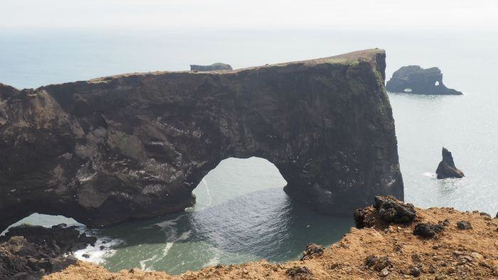 Dyrhaloey arch -- where to find puffins in Iceland