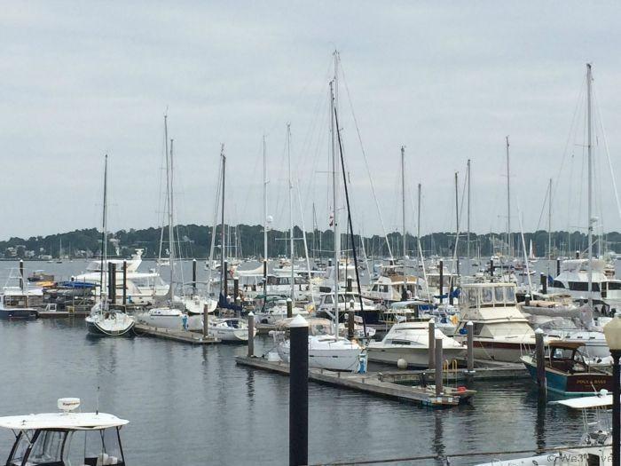 Weekend in Newport, RI -- view from the Newport Marriott Skiff Bar