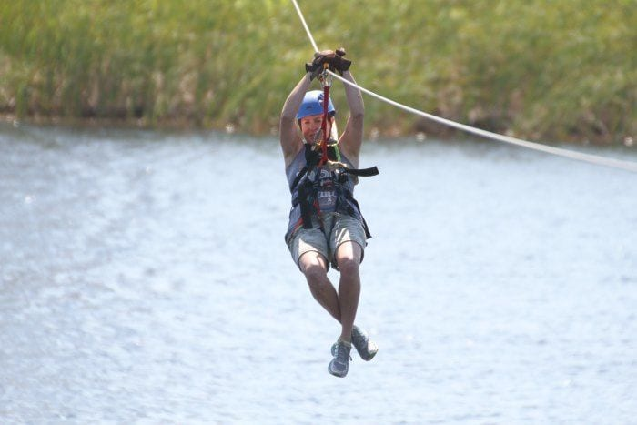 Ziplining in Gulf Shores Alabama with Hummingbird Ziplines at Gulf Adventure Center