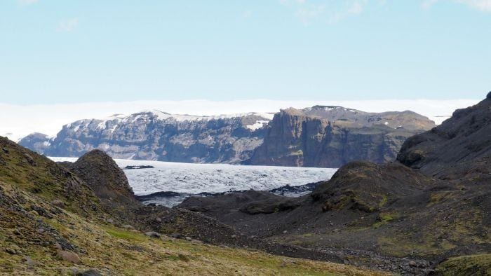 Glacier hiking in Iceland with Arcanum Glacier Tours -- glacier and valley