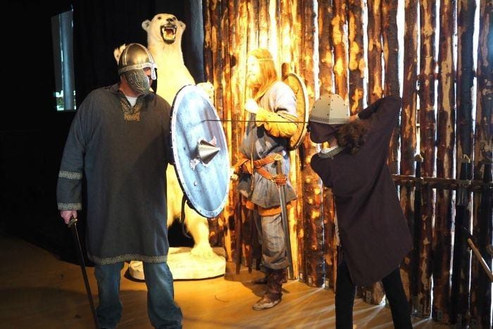 Learning about Vikings in Iceland at the Saga Museum in Reykjavik