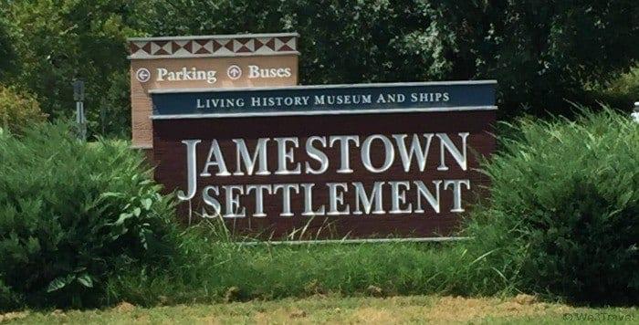 Visiting Jamestown settlement in Virginia
