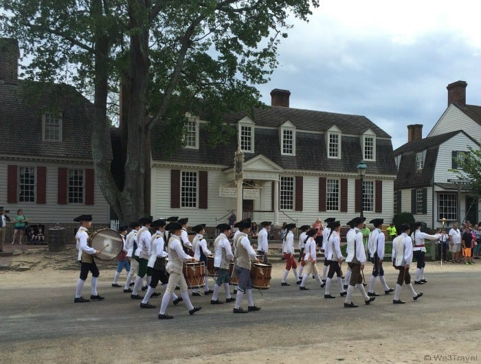 Troops on the Colonial Williamsburg streets
