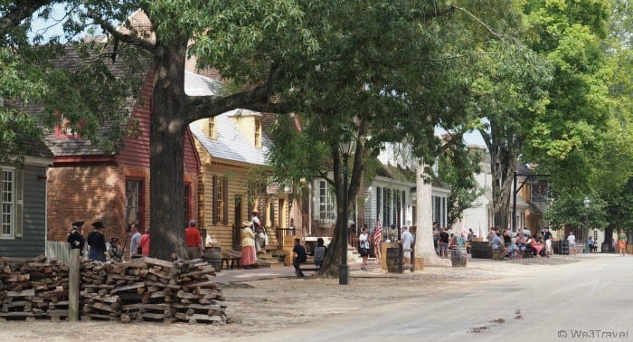 The streets of Colonial Williamsburg in Virginia