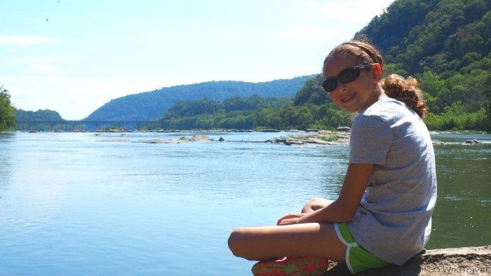 Enjoying the view from The Point in Harpers Ferry West Virginia