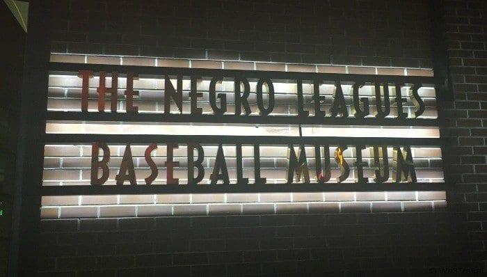 Negro Leagues Baseball Museum sign outside
