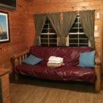 KOA Deluxe Cabin living room