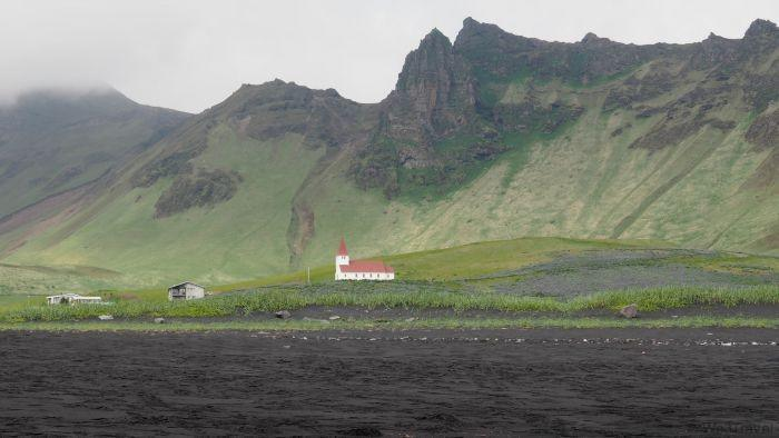 Classic Iceland architecture in Vik