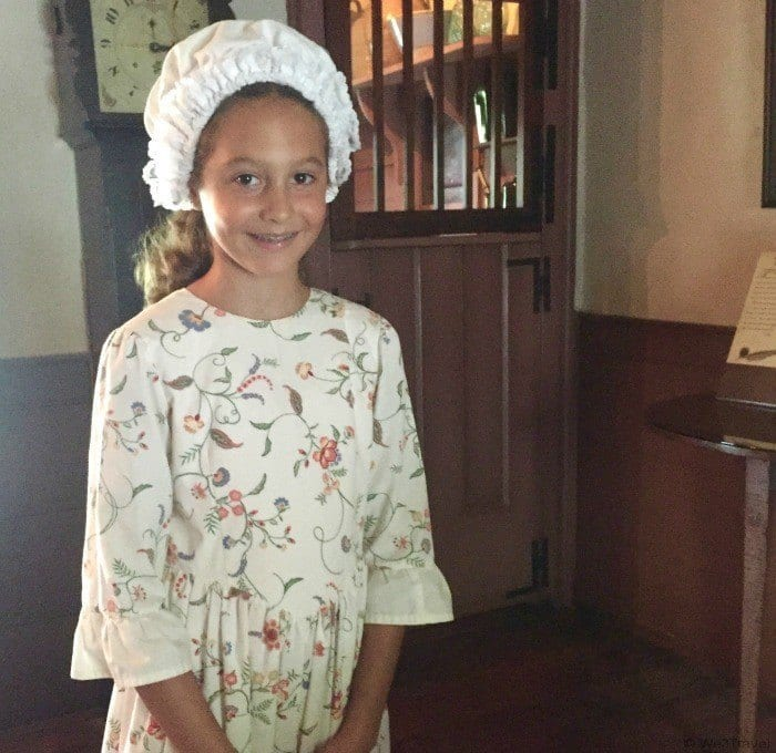 Michie Tavern review -- you can dress up as a Colonial child (or adult!)