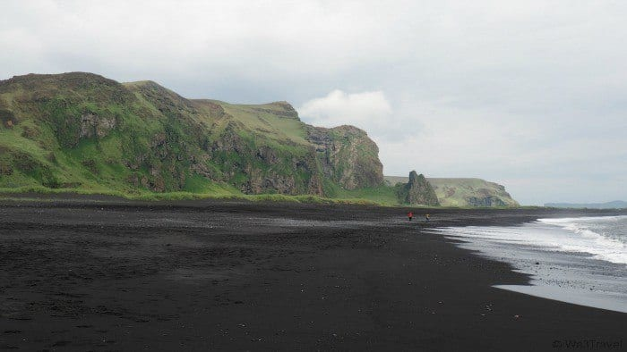 The black sand of Vik in Iceland