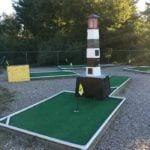Mini golf at the KOA Mystic